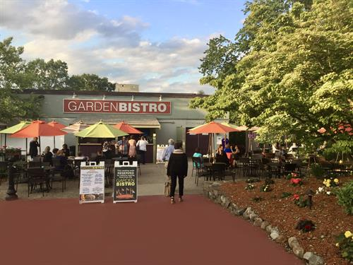 Our Garden Bistro offers patrons made to order, fresh from the grill grab and go bites before the performance and during intermission.