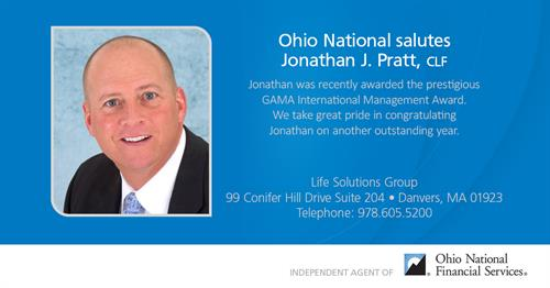 CEO Jonathan J. Pratt is honored as a GAMA International International Manager of the Year Award Winner.