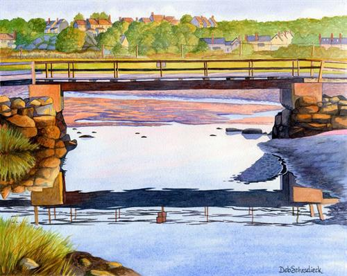 Good Harbor Footbridge watercolor