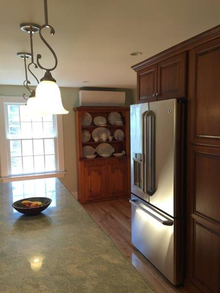 Mitsubishi Ductless installed in Rockport kitchen -- beautiful renovation, quiet and efficient