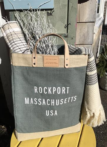 Rockport Jute bag. Fair Trade. Waterproof interior. Leather handles. Made to last at least 8 yrs. ho,D's up to 135 lbs.
