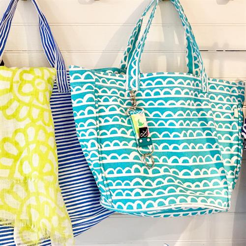 Canvas bags for beach or town. Bright and bold.