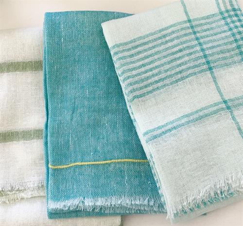 Soft Linen scarves in beautiful Spring Colors.