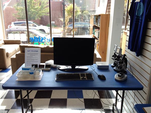 The Get Outside Center digital microscope lab