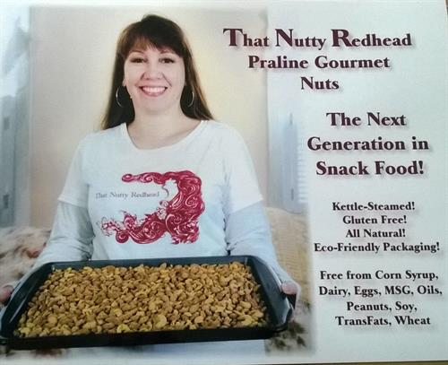That Nutty Redhead Praline Gourmet Nuts began on Cape Ann at the annual Rockport Harvestfest in October 2013