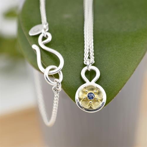 Beacon of Hope Necklace w/ 18K & Ceylon Blue Sapphire