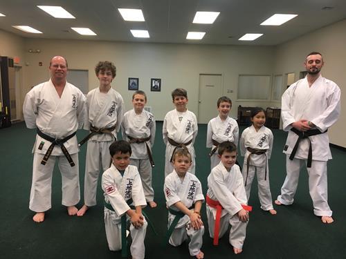 Junior Students getting closer to black belt