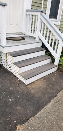 Repaired Outdoor Stairs and Railing