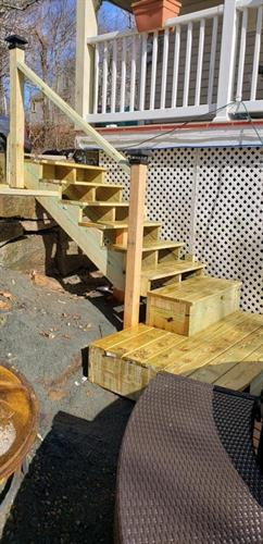 New Set of Outdoor Steps Leading to Porch