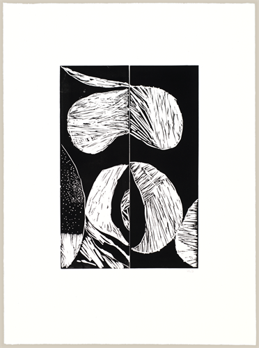 Geoffrey Bayliss . August 2016 . Linocut print  Image: 18x12 Paper: 30x22
