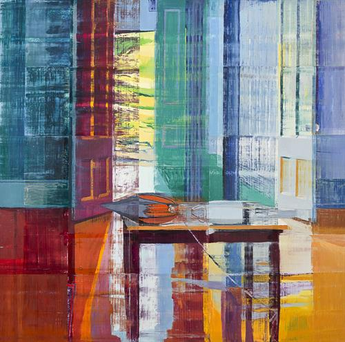 Chris Baker . Interior with Buoys 2016 . 48x36  inches