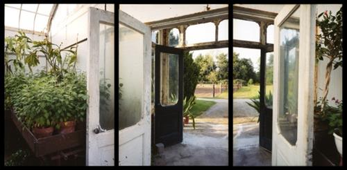 Esther Pullman . Greenhouse, Private Estate, Wellesley MA . Digital print . Multi-panel
