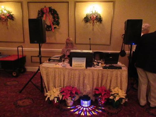 Christmas party setup. North Shore Old Car Club in Middleton