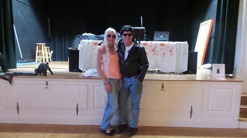 John & Christine at Halloween party Hamilton Community House