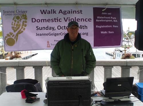 John at Walk against domestic violence in Newburyport