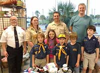 Donation of socks for the homeless from Cub Scout Pack 20