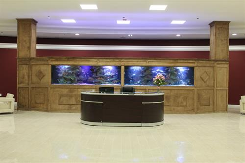 Your clients will be personally greeted by the General Manager in this beautiful lobby which features one-of-a-kind aquarium