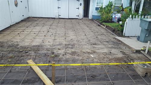 Passed inspection, now waiting for concrete.