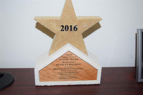 Hendley Renovation Award