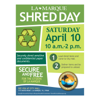 Keep La Marque Beautiful to Host Shred Day April 10th