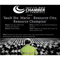 'Sault Ste. Marie - Resource City, Resource Champion' luncheon and discussion panel