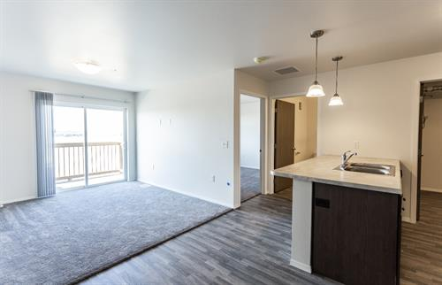2 bed 2 bath living space