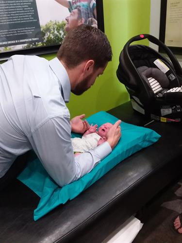 Adjusting babies helps with their development