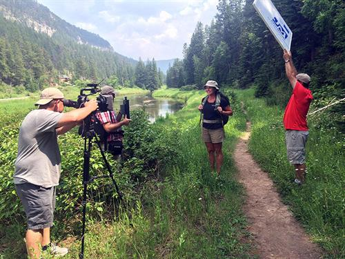 AARP South Dakota Tv commercial shoot. Spearfish Canyon