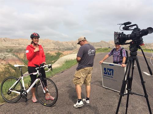 AARP South Dakota TV commercial shoot. Black Hills