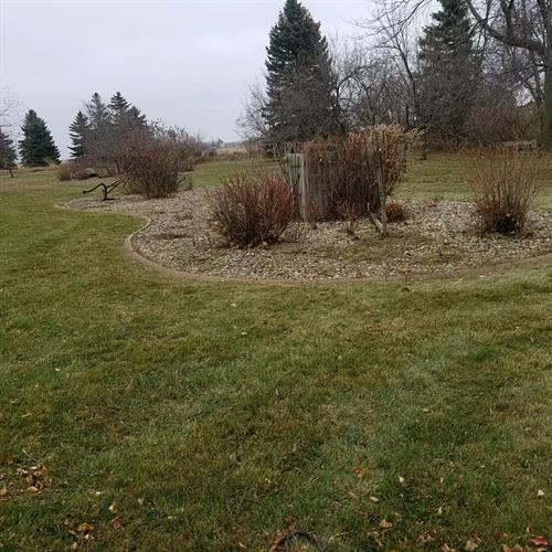 After landscape clean up