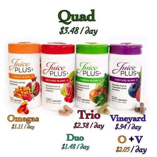 New Omega Blend capsule added to the Primium Trio of Fruits/Veggies/Berries blends
