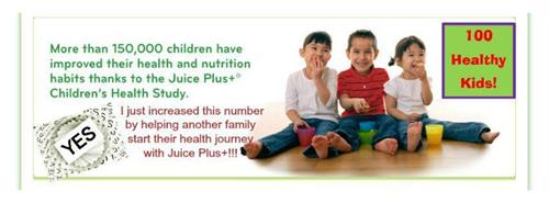 Over 1 million children worldwide receiving their Juice Plus for FREE for up to 4 years!