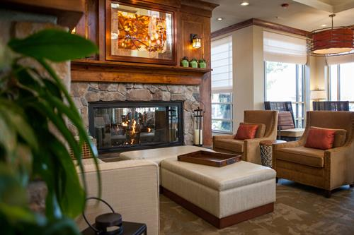 Fireplace- Hilton Garden Inn Boise/Eagle
