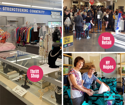 Assistance League of Boise Thrift Shop, and two additional philanthropies, HY Hopes and Teen Retail