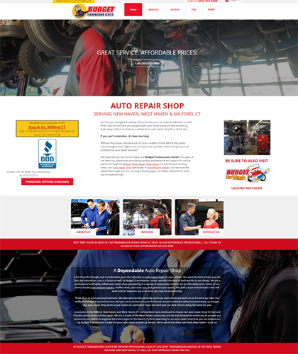 Landing Page Design - Transmission Repair