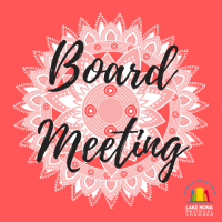 POSTPONED Board of Directors Monthly Meeting