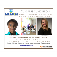 Business Luncheon Paving the Future of Transportation - Central Florida Expressway Authority