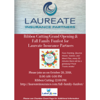 Ribbon Cutting/Grand Opening for Laureate Insurance Partners-Fall Family Funfest