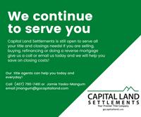 Capital Land Settlements - Winter Springs