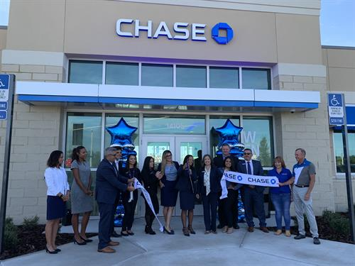 July 27, Ribbon Cutting at Chase Bank