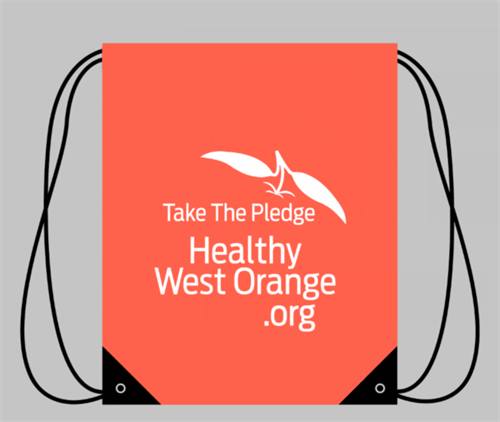 Healthy West Orange drawstring bags
