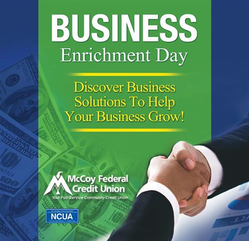 Discover Business Solutions to Help Your Business Grow! Come to McCoy's Business Enrichment Day!