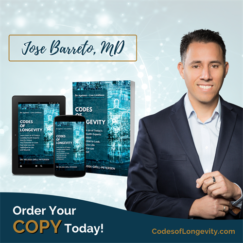 Dr. Barreto co authored Codes of Longevity.  Available on Amazon