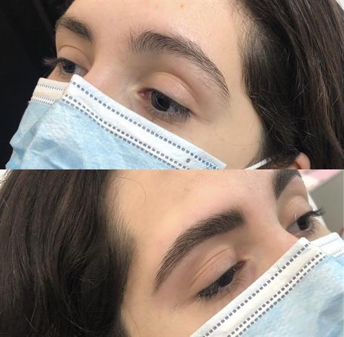 Before & After Brow Wax