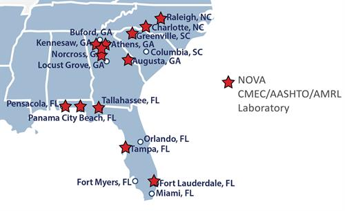 Nova Engineering and Environmental Office and Lab Locations