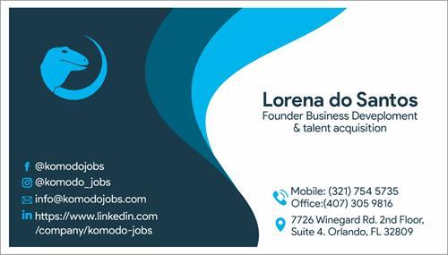 Business Card Lorena do Santos
