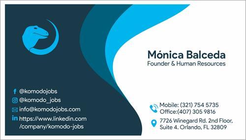 Business Card Monica Balceda