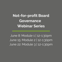 Board Governance Overview Webinar Series
