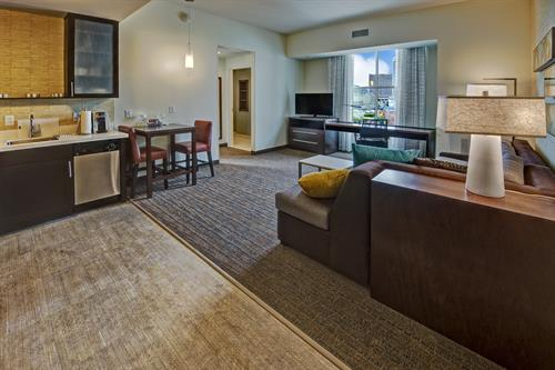 Suites with separate living and sleeping areas