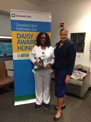 Cleveland Clinic Florida Nurse Honored with DAISY Award - Weston